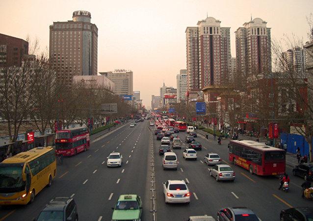 La ciudad de Zhengzhou, China