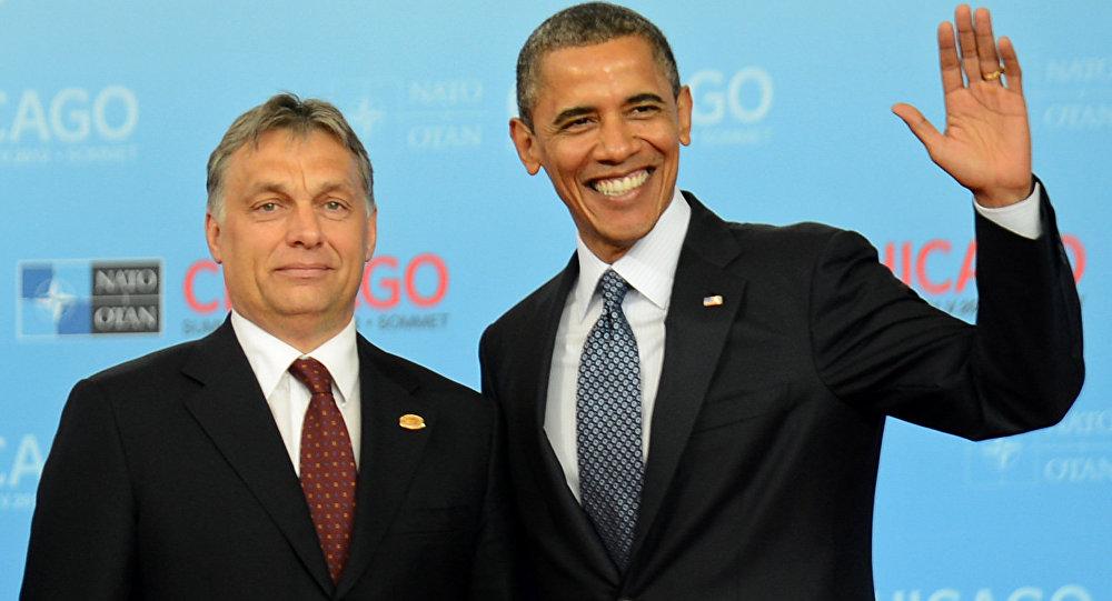 Barack Obama con el primer ministro húngaro Víctor Orban