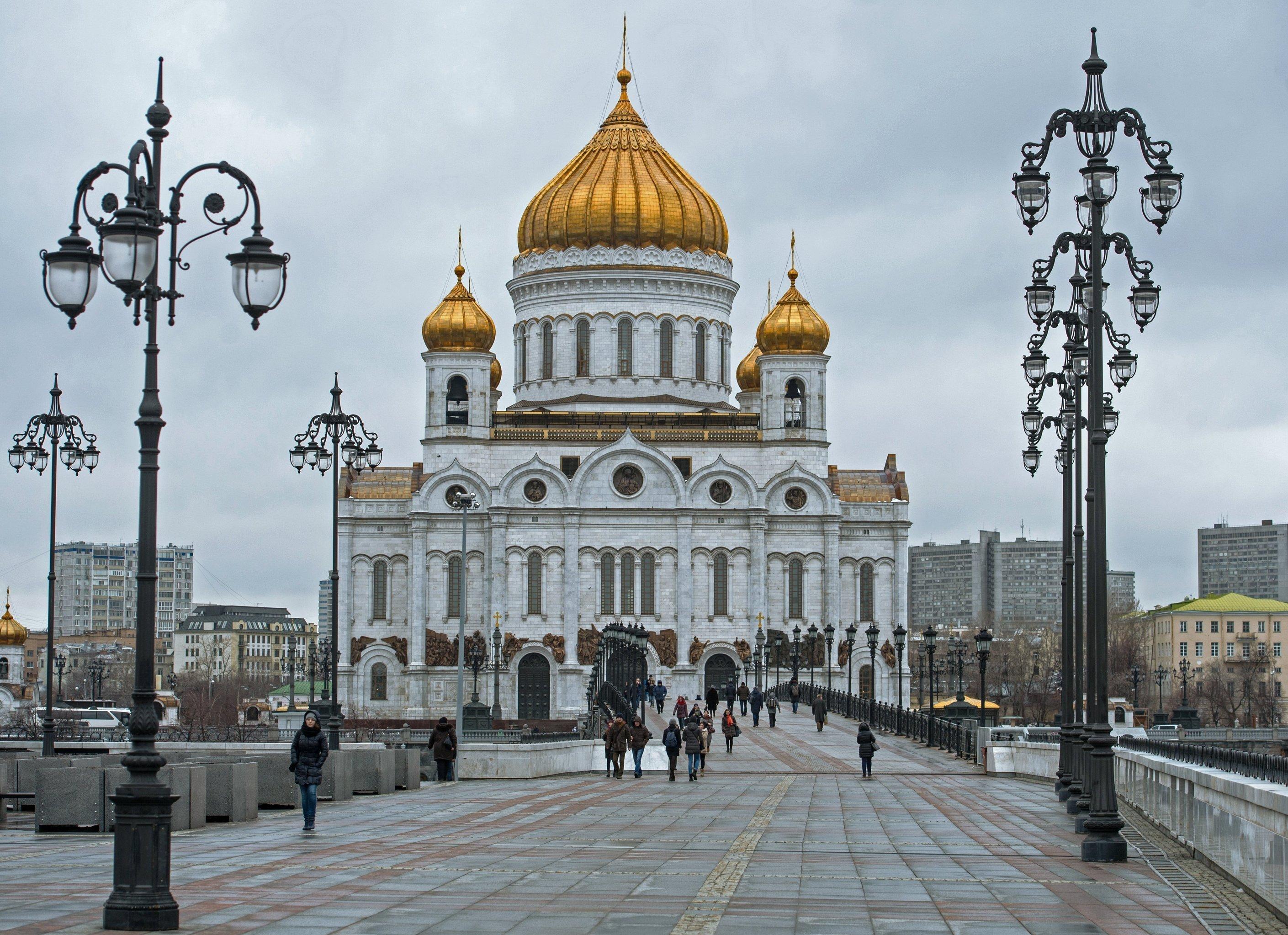 La Catedral de Cristo Salvador en Moscú