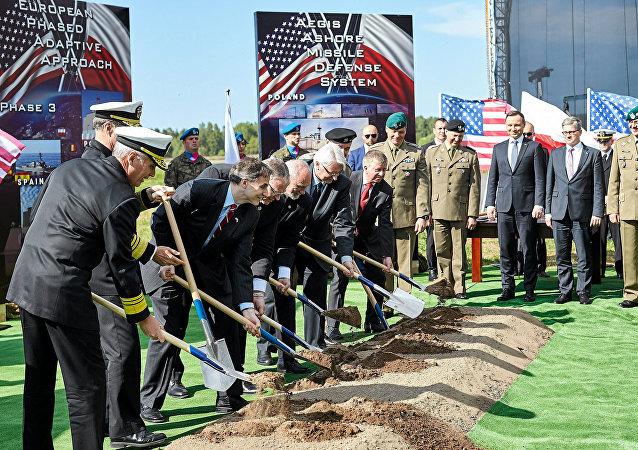 Ceremonia de inauguración de una base de EEUU en Redzikowo
