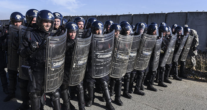 La KFOR, las fuerzas militares de la OTAN en Kosovo (archivo)