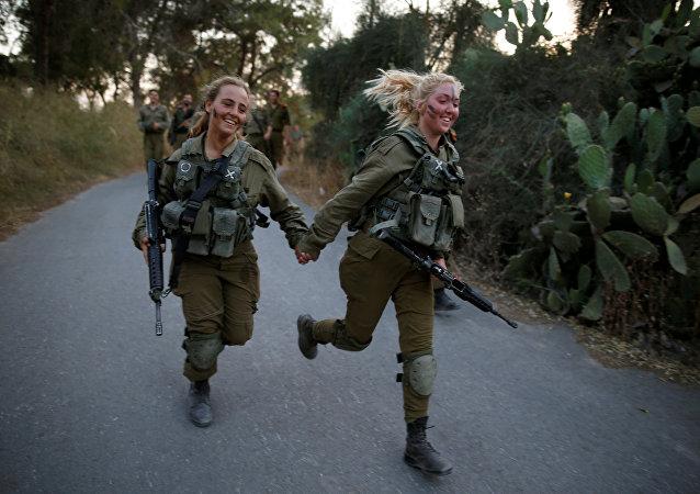 Mujeres en el ejército israelí (archivo)