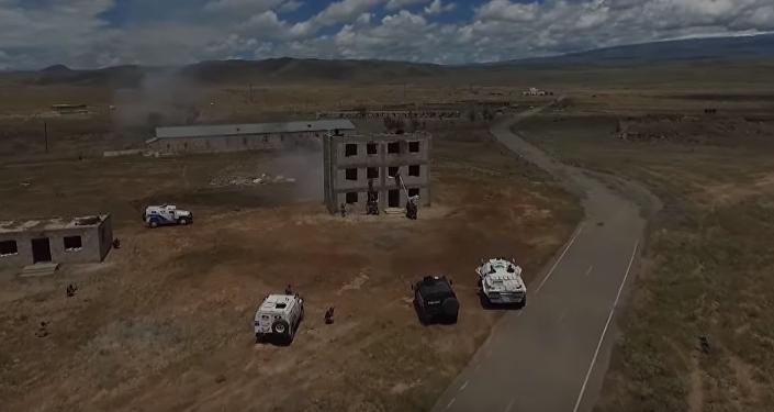 Simulacros antiterroristas en Armenia a vista de pájaro
