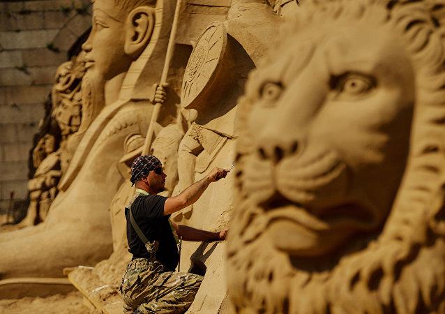 Reino de arena en la Fortaleza de Pedro y Pablo