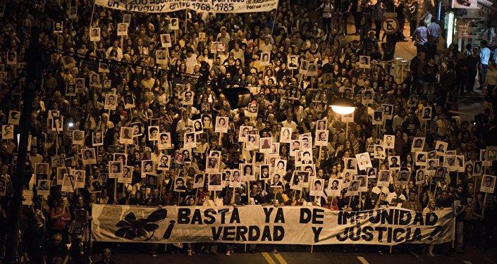 Marcha del Silencio en Montevideo, Uruguay