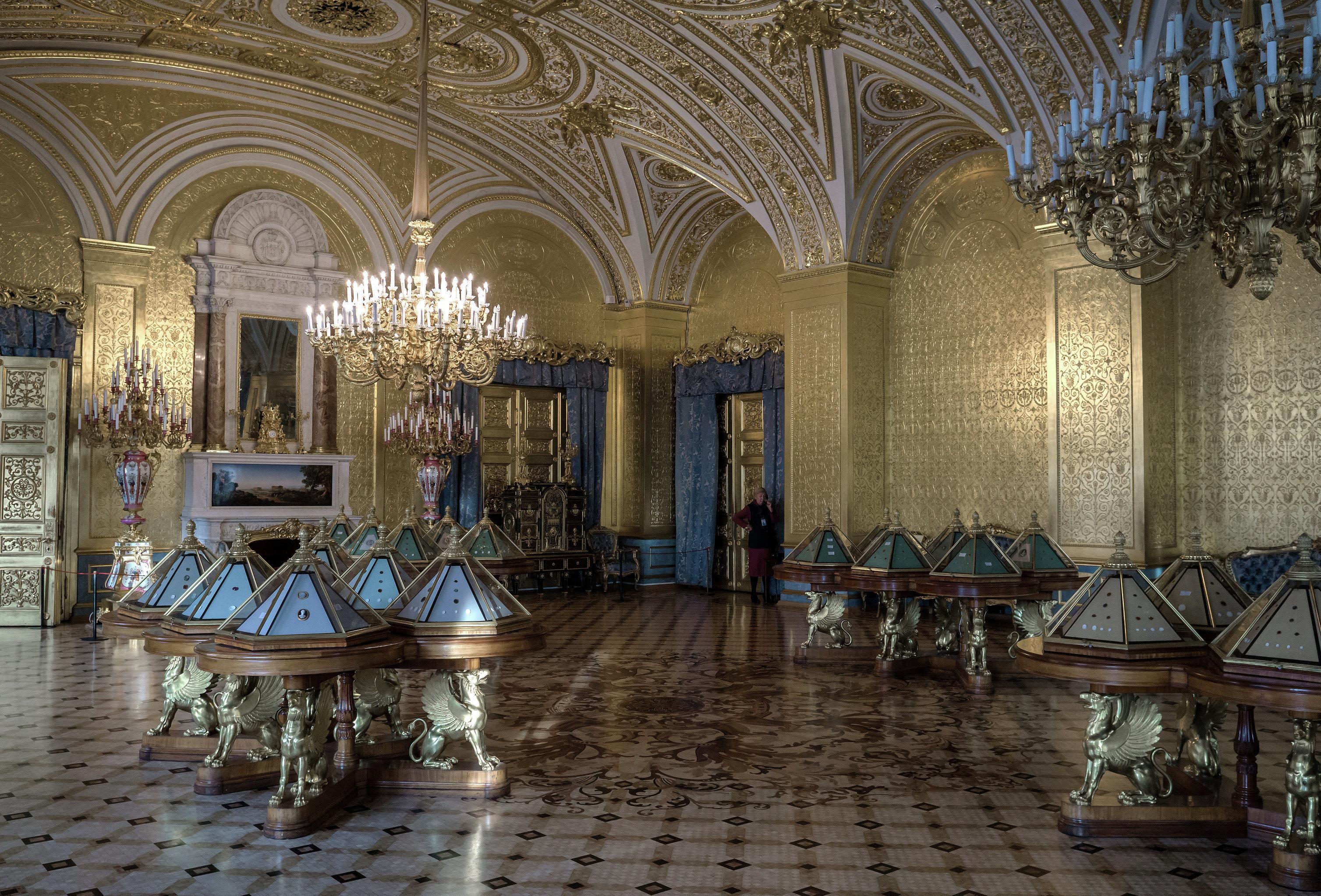 Una de las salas del Hermitage