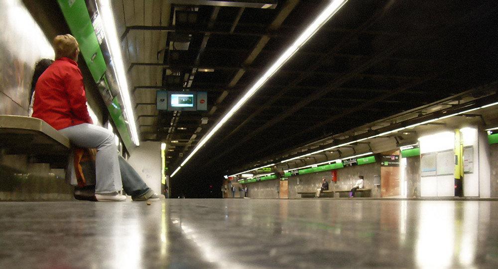 Una estación del Metro de Barcelona