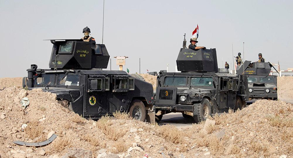 Soldados iraquíes en Faluya