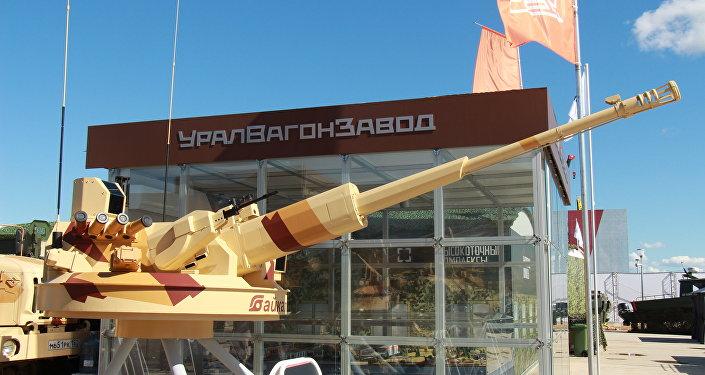 El nuevo cañón automático de calibre 57 milímetros teleguiado del tipo 'Baikal'.
