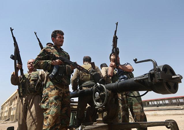 Los milicianos kurdos en Irak (archivo)
