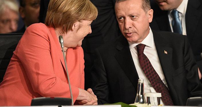 Angela Merkel y Recep Tayip Erdogan
