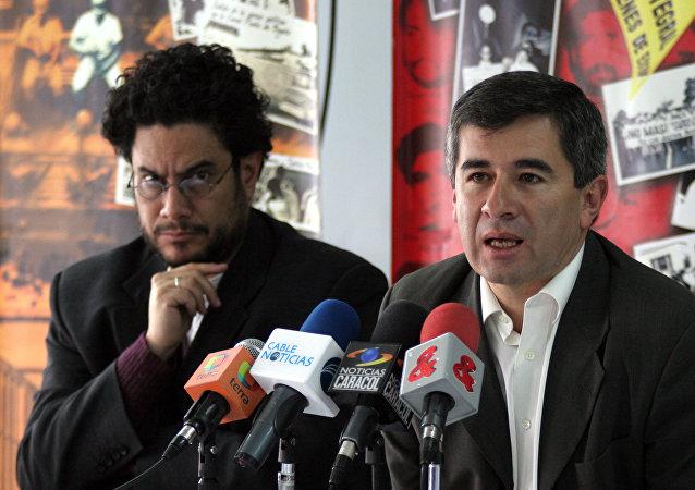Senador colombiano, Iván Cepeda, y expresidente de Colombnia, Álvaro Uribe (archivo)