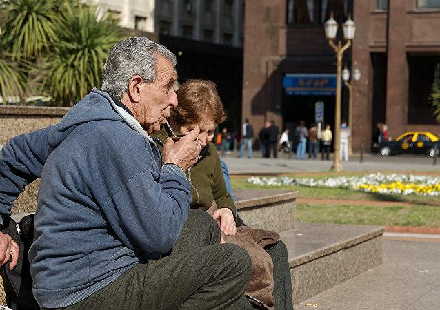 Jubilados en Buenos Aires, Argentina (imagen referencial)