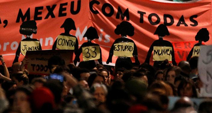 Manifestaciones de en todo Brasil exigen el fin de la violencia contra las mujeres