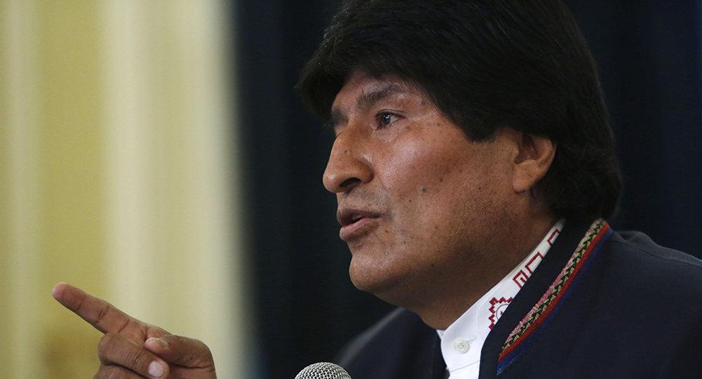 El presidente de Bolivia Evo Morales