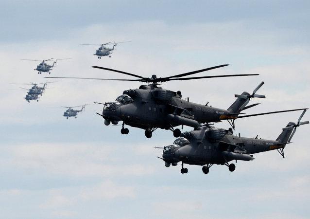 Los helicópteros Mi-35 (imagen referencial)