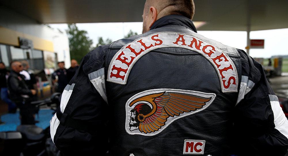 Miembro del club de motociclistas estadounidense 'Hell's Angels'