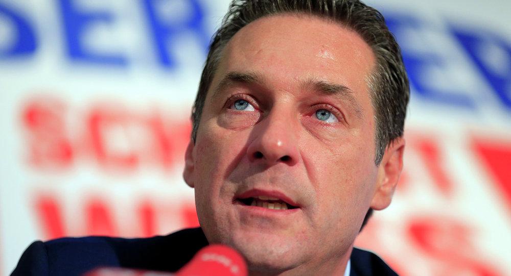 Heinz-Cristian Strache, presidente del FPO