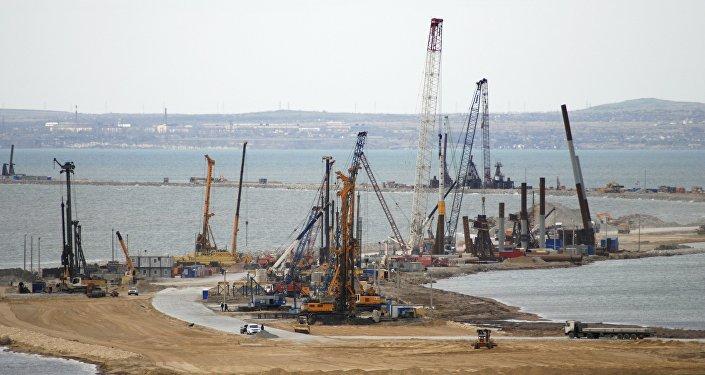 La construcción del puente a Crimea