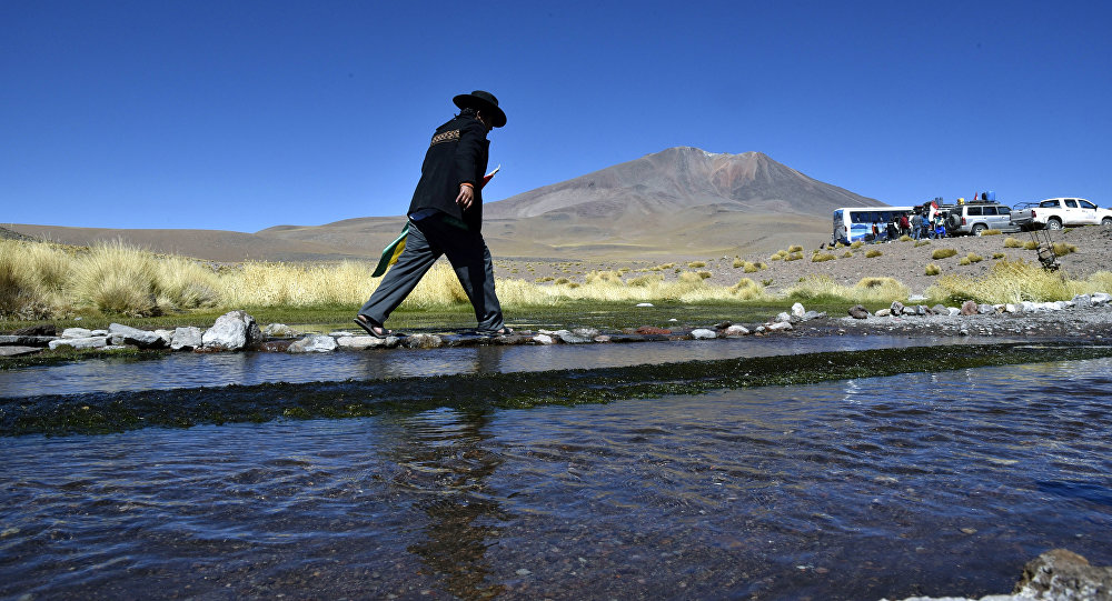 Aguas del Silala en Bolivia, cerca de la frontera con Chile