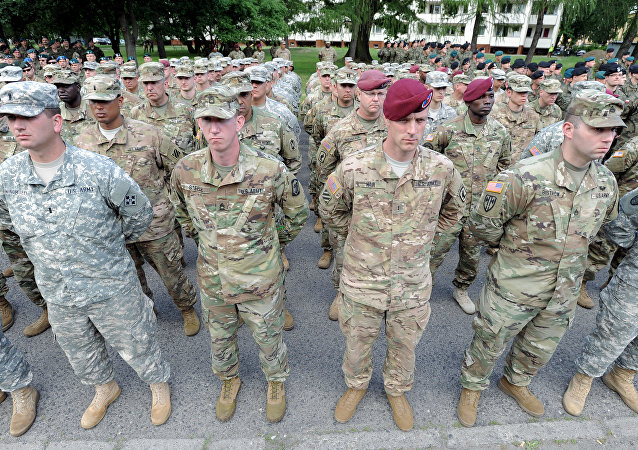 Soldados estadounidenses en los ejercicios militares de la OTAN en Polonia