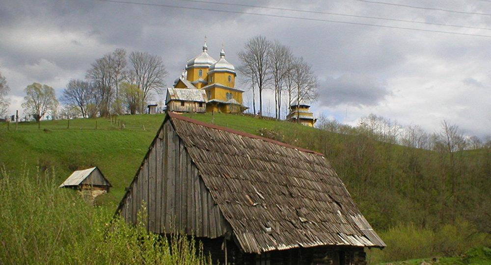 Un pueblo de Ucrania
