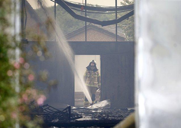 Incendio en un centro de acogida para refugiados en Düsseldorf