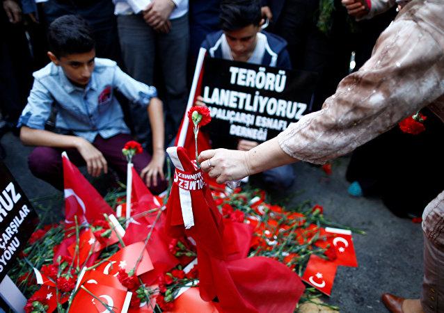 Lugar del atentado en el centro de Estambul