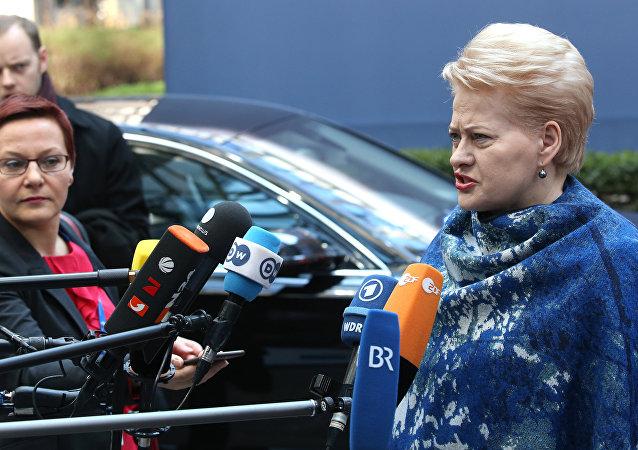 Dalia Grybauskaite, presidenta de Lituania