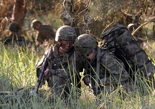 Militares polacos durante los ejercicios Anakonda-16