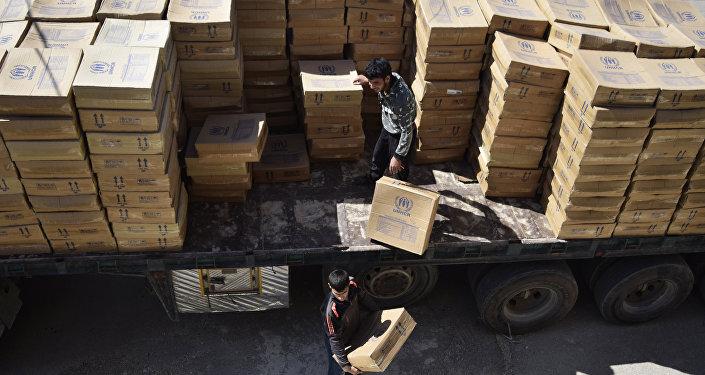 Ayuda humanitaria de la ONU en Siria (archivo)