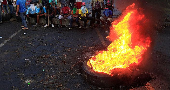 Protesta de indígenas en Colombia (Archivo)