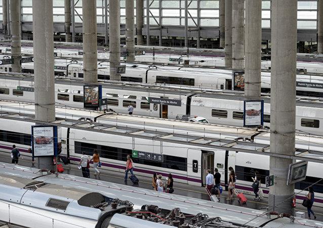 Estación de trenes en Madrid