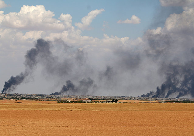 Area cerca de la ciudad de Manbij en la provincia de Alepo