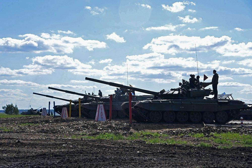Biatlón de tanques en la región de Cheliábinsk