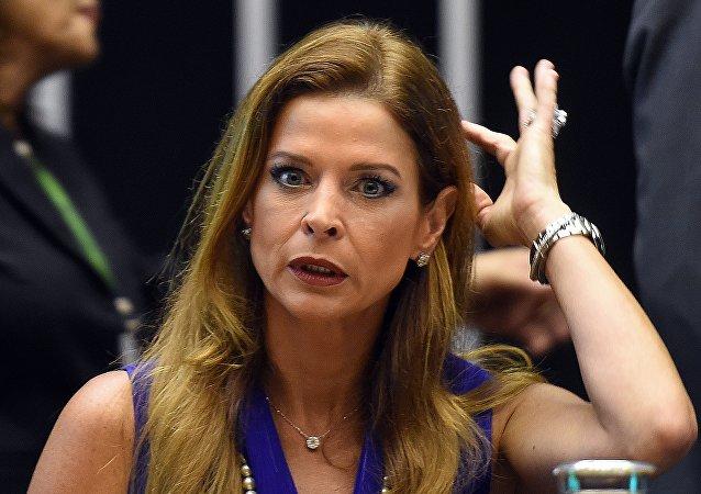 Claudia Cordeiro Cruz, esposa del expresidente de la Cámara de Diputados Eduardo Cunha