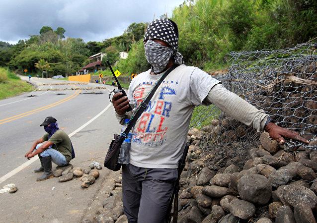 Protestas de campesinos colombianos (archivo)