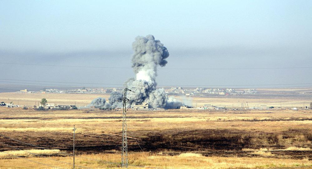 Ataque aéreo de la coalición liderada por EEUU (archivo)