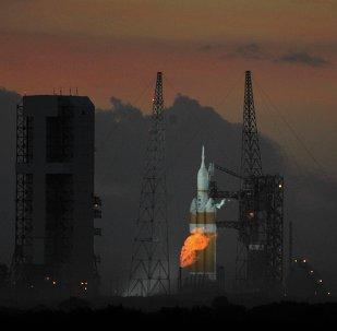 Cohete de carga pesada Delta IV Heavy (archivo)