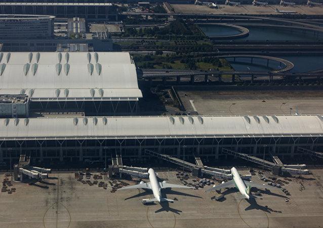 El aeropuerto internacional Pudong, Shanghai
