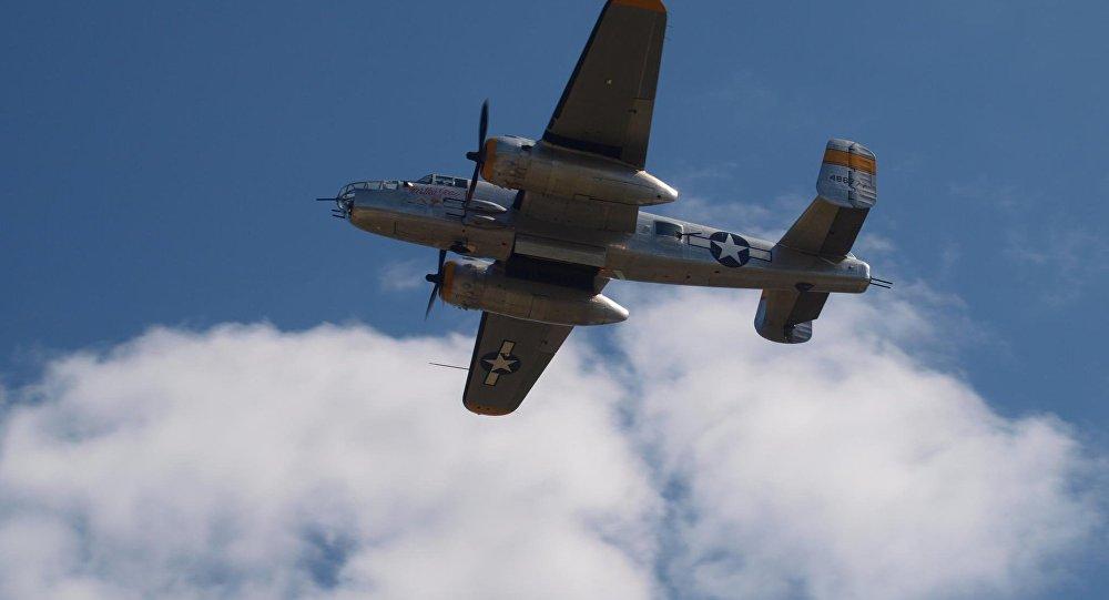 Bombardero norteamericano B-25, con el que planeaban arrojar bombas químicas contra Japón