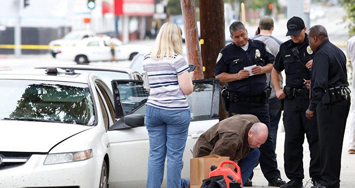 El coche del hombre detenido en la ciudad estadounidense de Santa Mónica
