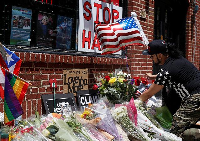 El homenaje de las victimas de Orlando en Nueva York