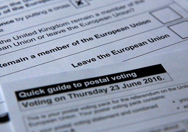 Boletas del referéndum sobre Brexit