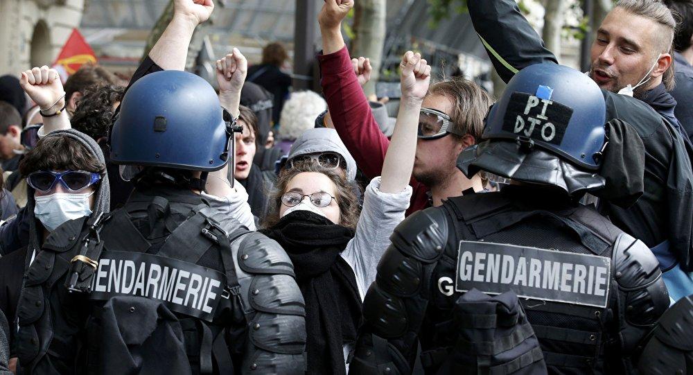 Una protesta en Francia (imagen referencial)