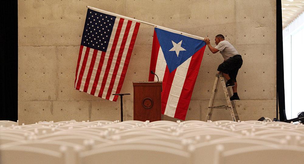 Banderas de EEUU y Puerto Rico