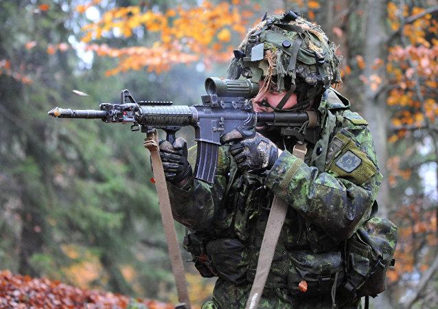 Un soldado canadiense