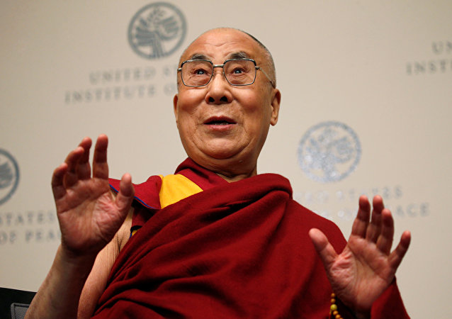 Dalái lama en el Instituto por la Paz de EEUU en Washington
