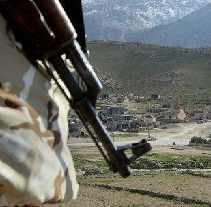 Un combatiente en Irak (imagen referencial)