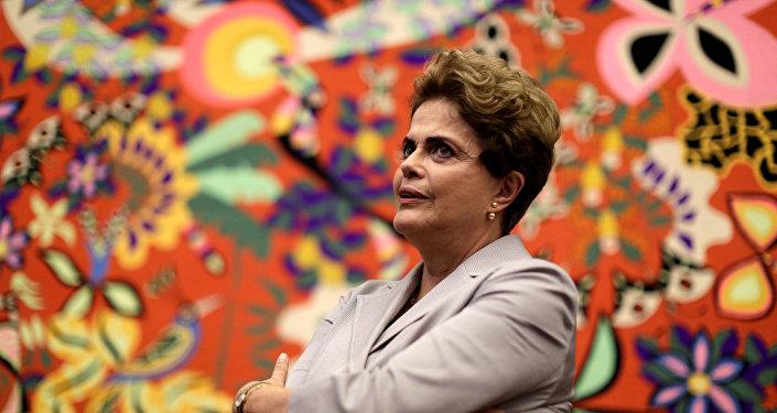 Dilma Rousseff, presidenta apartada de Brasil
